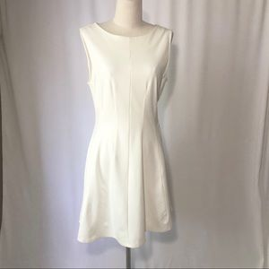 Monteau L ivory sleeveless fit and flare dress